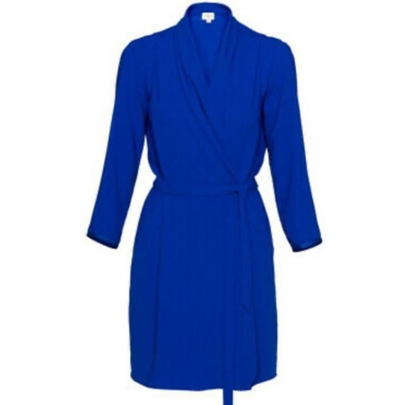 Aritzia Wilfred Franca Wrap Midi Dress 1/4 Sleeve